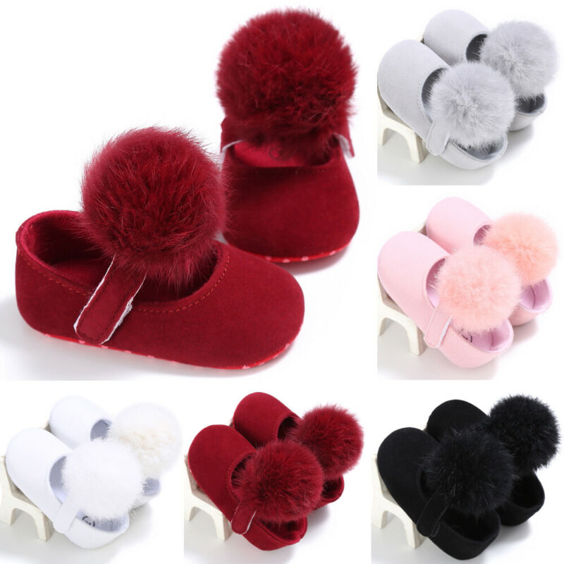 Newborn Baby's Shoes Infant Baby Girls Princess Ball Shoes Toddler Soft Sole