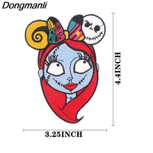Nightmare Sticker for Clothing Applications Patches on Clothes Iron Embroidered Patch for Backpack zotoone iron on cute alien patches for clothing t shirt cool badges embroidered diy cool patch sew stripe on clothes applique g