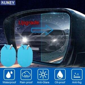 2Pcs/Set Car Accessories Anti-Rain Glare Rearview Mirror Film Waterproof Rainproof Auto Sticker Anti-Fog Soft Film 135x90mm