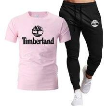 Conjunto de duas peças de treino masculino roupas de verão t camisa shorts marca roupas de pista masculino sweatsuit ternos esportivos marido 10 cores