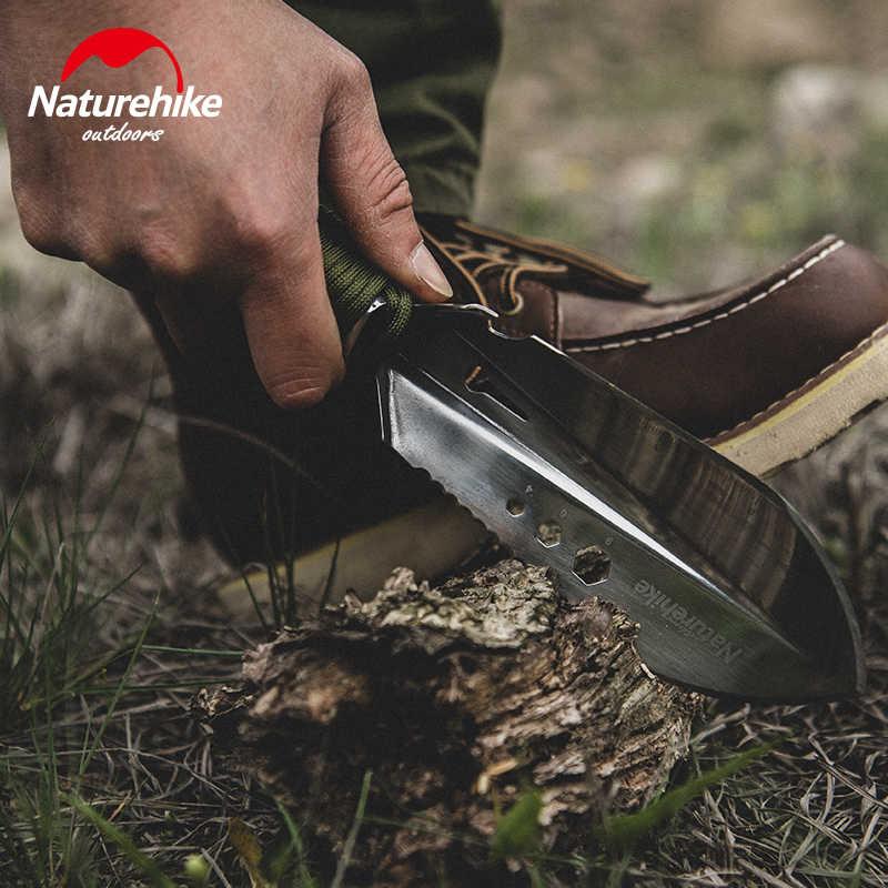 Naturehike açık kamp el küreği 7-in-1 çok fonksiyonlu aracı paslanmaz çelik kürek testere ahşap bıçak altıgen anahtar bahçe Bonsai