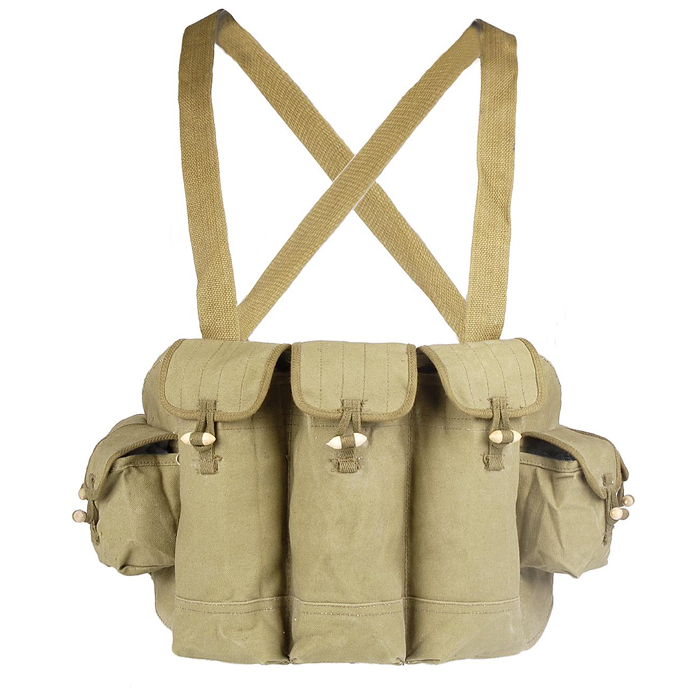 Original Chicom Chest Rig Chinese Type 56 Ammo Pouch Old School Style Tactical Wear Vietnam NVA SOG Soviet <font><b>Afghanistan</b></font> Equipment image