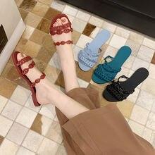 Летняя прозрачная обувь в повседневном стиле; Женские сандалии;