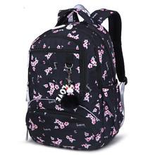 Torby szkolne dla dzieci ortopedyczne tornister plecaki szkolne dla dzieci plecaki dla dziewcząt plecaki do szkoły podstawowej bookbags sac enfant tanie tanio SEVEN STAR FOX Oxford zipper school bags Floral 32cm Dziewczyny 21cm nylon 42cm