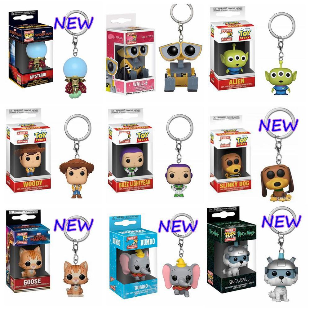 Pop Mysterio Toy Story Dumbo Stranger Things Snowball Captain Marvel Goose Wall-E Keychain Toys Action Figure Collectible Toy