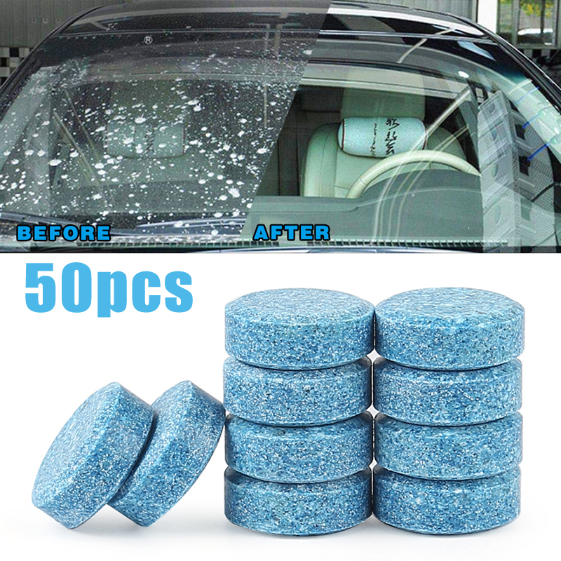 50Pcs/Lot Multifunctional Effervescent Spray Cleaner Portable Concentrated Strong Cleaning Car Window Household Cleaning