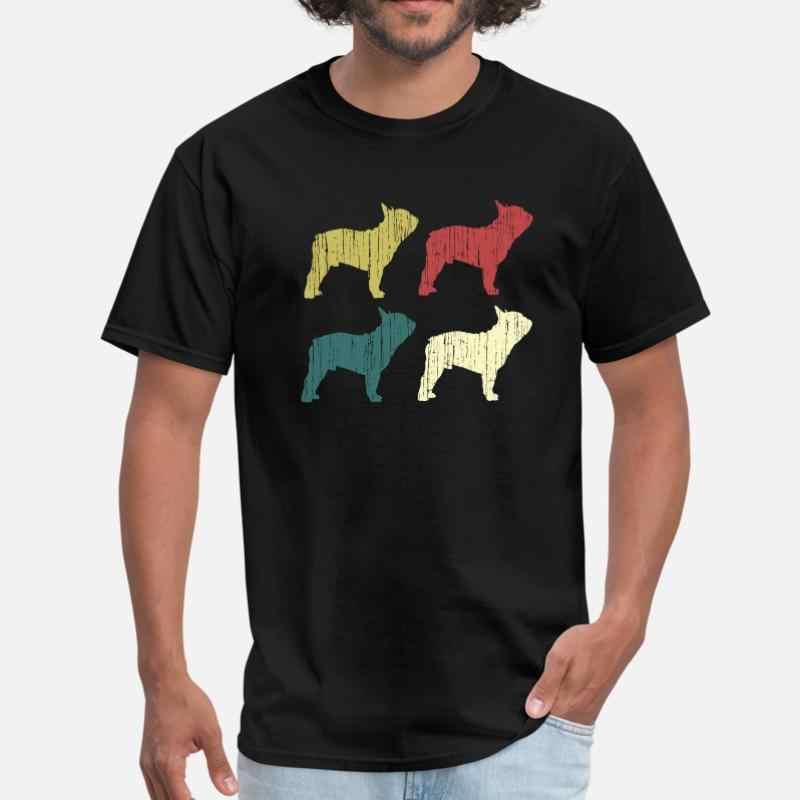 Tasarım Retro Frenchie fransız Bulldog sevgilisi hediyeler köpek Owne T-Shirt 2020 O boyun rahat erkek tişört kısa kollu Homme Tee tops