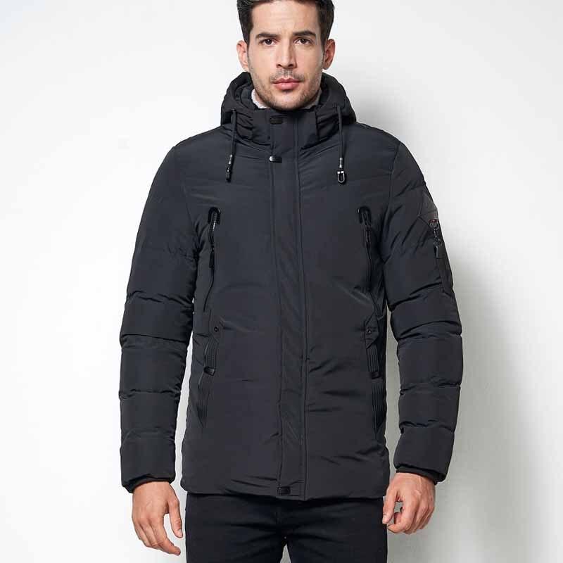 YUSHU Winter Jacket Men -40 Degree Thicken Warm Cotton Fleece   Parka   Jacket High Quality Hooded   Parka   Fashion Casual Coat