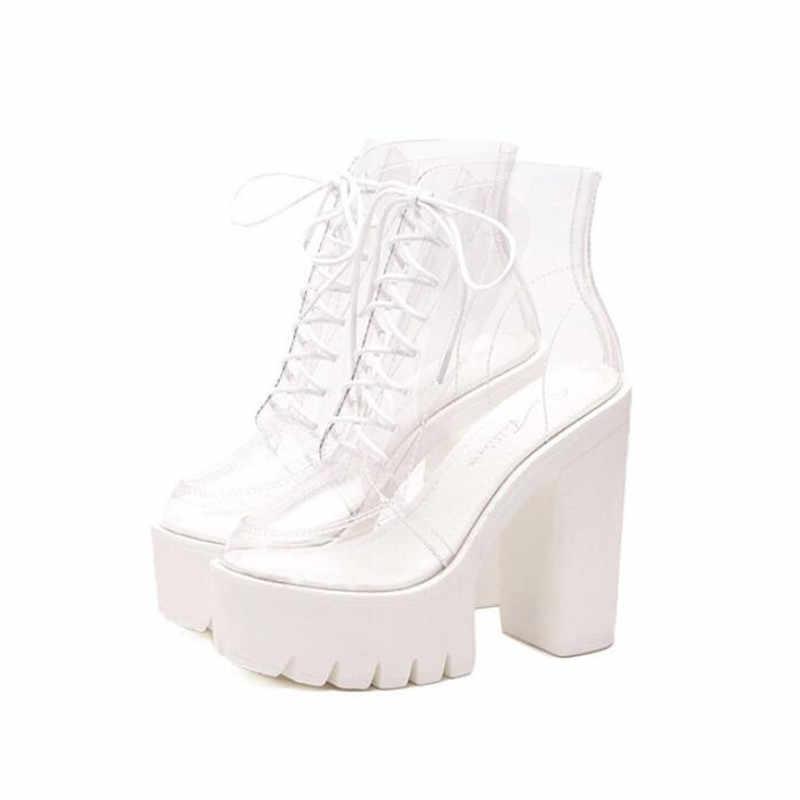 BBZAI ayakkabı kadın 8cm Kaba topuk Botas Maç Çizmeler Kadınlar botas mujer Moda Şişeler Pompaları Femmes ABD 4 -8 9