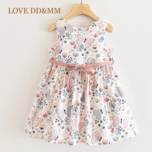 LOVE DD&MM Girls Dresses 2020 New Sweet Yellow Butterfly Print Princess Kids Dresses For Girls Clothing Costume
