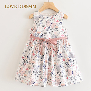 Image 1 - LOVE DD&MM Girls Dresses 2020 New Sweet Yellow Butterfly Print Princess Kids Dresses For Girls Clothing Costume