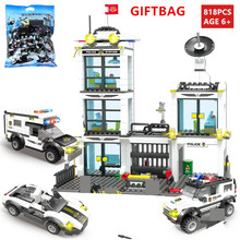 City SWAT Police Station Aircraft Car Building Blocks Sets LegoINGs Bricks Playmobil DIY Bricks Toys For Children Christmas Gift