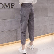 New Korean Version Women's Corduroy Pants 2019 Autumn Winter Casual Harm Pants Female Loose Slim Cotton Pants(China)