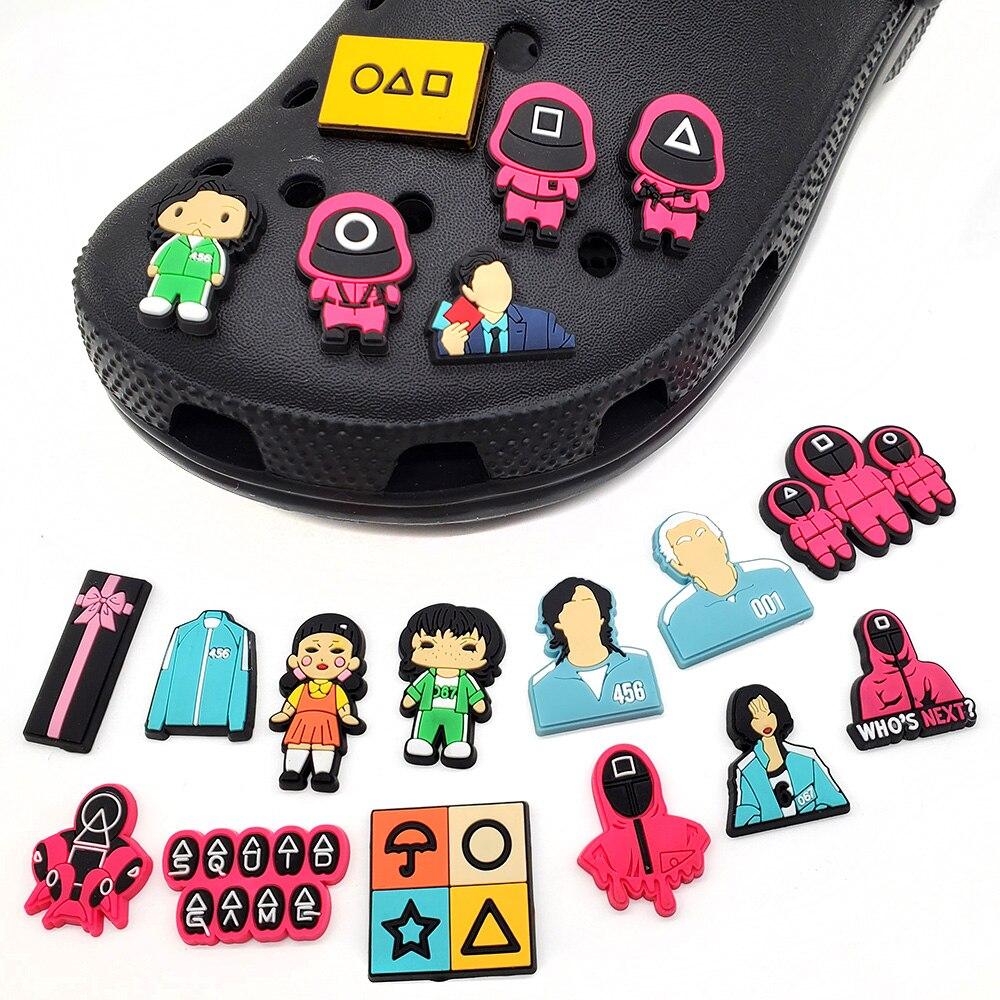 Nova chegada 1 pçs série de tv quente sapatos de pvc encantos acessórios sapatos femininos decorações caber croc clog jibz adulto x-mas presentes de festa