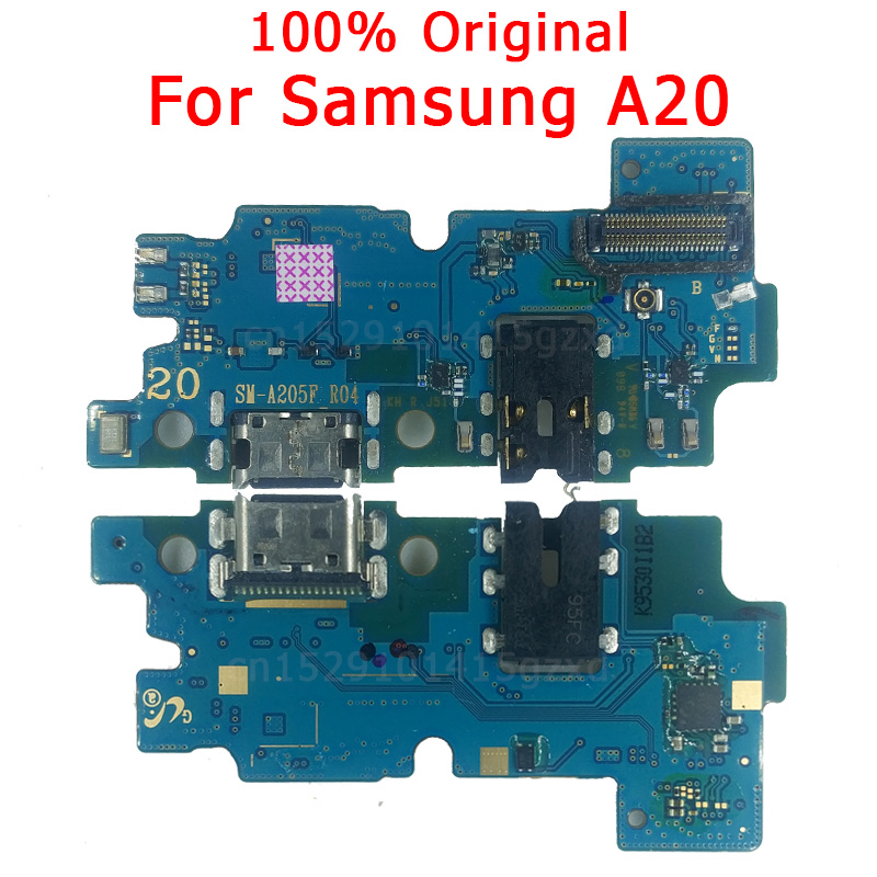 Original Flex Board For Samsung A20 Charging Port For A 20 Charger Board USB Plug PCB Dock Connector Spare Parts