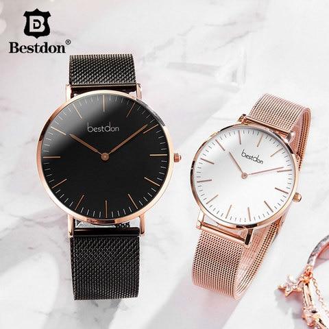 Bestdon Couple Watches Pair Men And Women Watches Minimalist Unisex Fashion 2019 Luxury Brand Quartz Watch Waterproof Relogio Pakistan