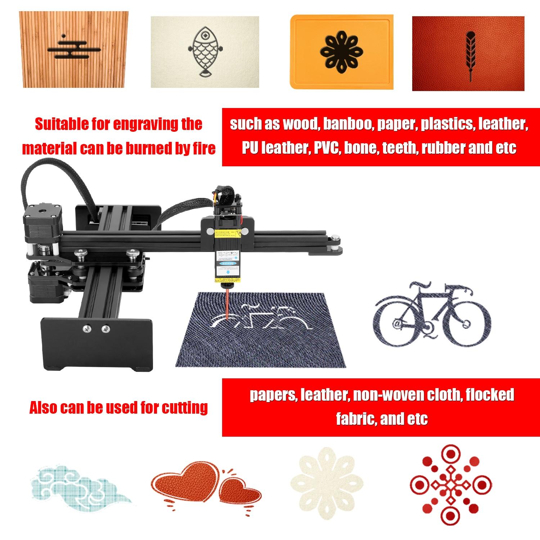 5.5W Desktop Single Arm Engraver Portable DIY Engraving Carving Machine Mini Carver Portable Wood Marking Machine EU/US Plug