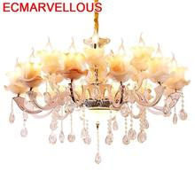Flesh Lampade A Sospensione Moderne Design Touw Crystal Lampen Modern Deco Maison Hanging Lamp Luminaire Suspendu Pendant Light