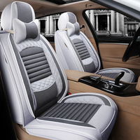 Full Coverage flax fiber car seat cover auto seats covers for geely atlas boyue emgrand x7 geeli emgrand ec7