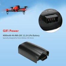 Bateria lipo recarregável para drone, 4000mah 11.1v para papagaio bebop 2