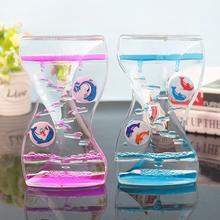 Движущиеся капельные масляные песочные часы с жидкими пузырьками, таймер, детская игрушка, домашний офисный стол, Декор, красочные песочные часы, таймер-часы, подарок на день рождения для детей