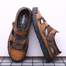 2020 summer shoes genuine leather for men sandals man fashio
