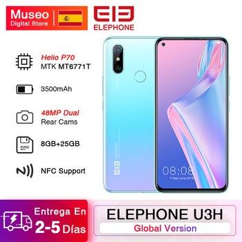 Перейти на Алиэкспресс и купить Глобальная версия ELEPHONE U3H смартфон 8 Гб 256 ГБ Helio P70 6,53 дюймFHD + 48 МП Две камеры Android 9 мобильные телефоны Беспроводная зарядка