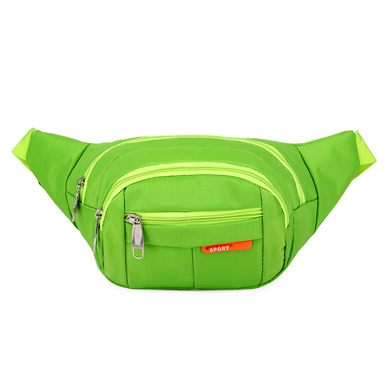 Running Waist Bag Leisure One Shoulder Oblique Satchel Multi-function Silver Anti-theft Fashion Wear-resistant Mobile Phone Bag