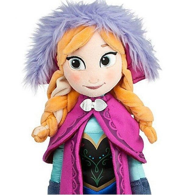 50 CM Frozen Snow Queen Elsa Stuffed Doll Princess Anna Elsa Doll Toys Elza Stuffed Plush Kids Toys Halloween Birthday Gift 3