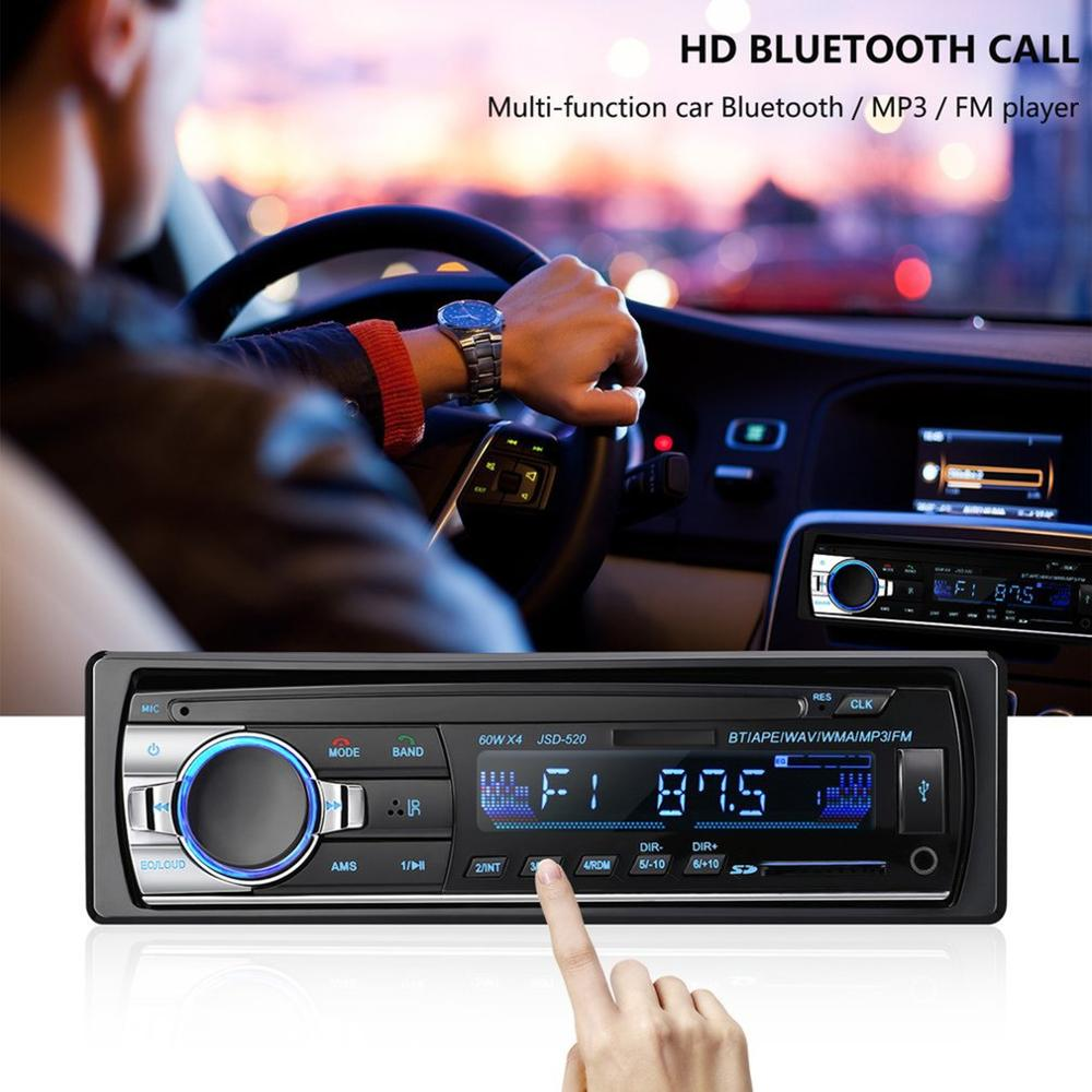 1 DIN Car MP3 Player FM Radio Audio Stereo In Dash Aux Input Receiver USB/TF Port With Remote Control 4X60W