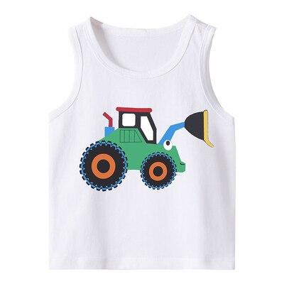 VIDMID Summer Children T-Shirts for Boys Girls T-shirt Kids Cotton sleeveless Tanks Baby Tees Kids vests Girls Tops tank 4150 05 3