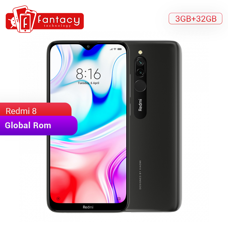 Global Rom Xiaomi Redmi 8 3GB 32GB Snapdragon 439 Octa Core Cellphone 12MP Dual Camera Mobile Phone 5000mAh Large Battery OTA
