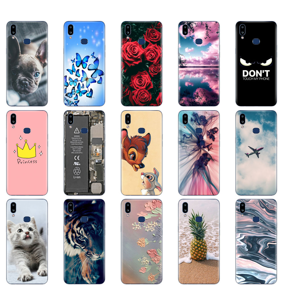 Case For Samsung A10S Case cover Soft Silicon coque on For Samsung Galaxy A10S GalaxyA10S A 10S <font><b>A107F</b></font> bumper copas cute cat dog image