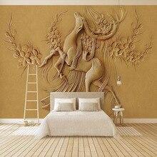 цена на PVC Self-Adhesive Waterproof Wallpaper 3D Stereo Relief Animal Murals Living Room TV Sofa Bedroom Home Decor Wall Sticker Murals