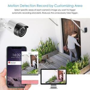 Image 3 - ZOSI 1080P 4CH CCTV Kamera System CVBS AHD CVI TVI Video Wasserdichte Außen Kamera CCTV Überwachung Sicherheit System DVR kit