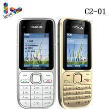Nokia C2 C2-01 разблокированный gsm мобильный телефон английский и арабский и иврит и русская клавиатура б/у мобильные телефоны