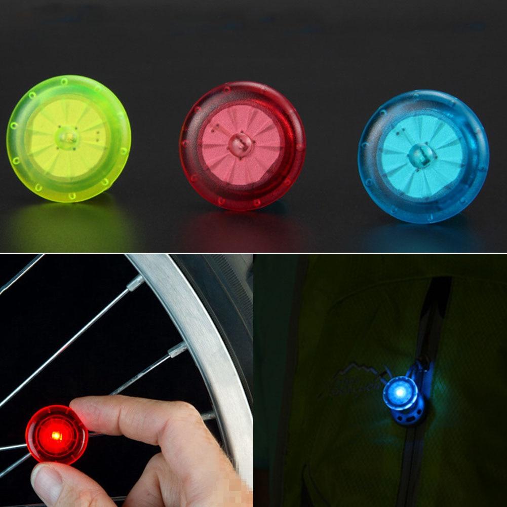 2Pcs 2.5cm Bike Spoke String Strip Lamp Warning Light Bicycle Wheel Lights Running Mini Bike Cycling Rim LED Lights #2