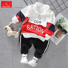 kids autumn spring clothes set baby girls boys casual sweatshirt + pants clothing toddler sports sportswear