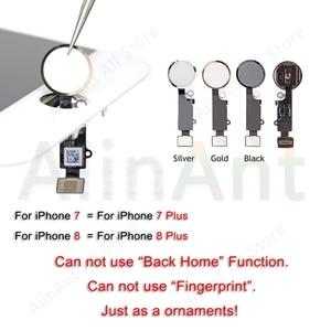 Image 4 - Bouton accueil Flex pour iPhone 6 6s 7 8 Plus 5s SE retour retour bouton daccueil avec câble flexible autocollant en caoutchouc pas dempreinte digitale didentification tactile