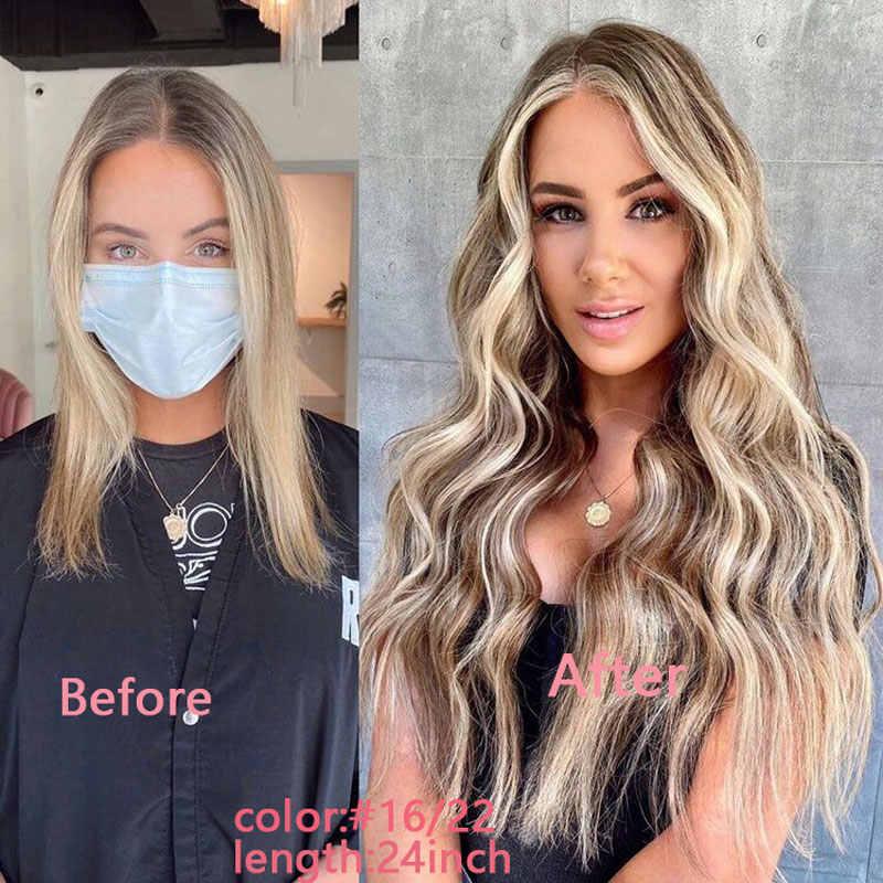 """Bant insan saçı postiş doğal gerçek saç düz kesintisiz cilt atkı Remy 100% insan saçı yapıştırıcı 14 """"-24"""" çift taraflı"""