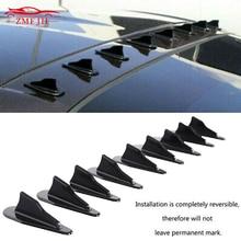 Universal Black Car Rear Roof Shark Fins Spoiler Fin Diffuser Vortex Generator Bumper