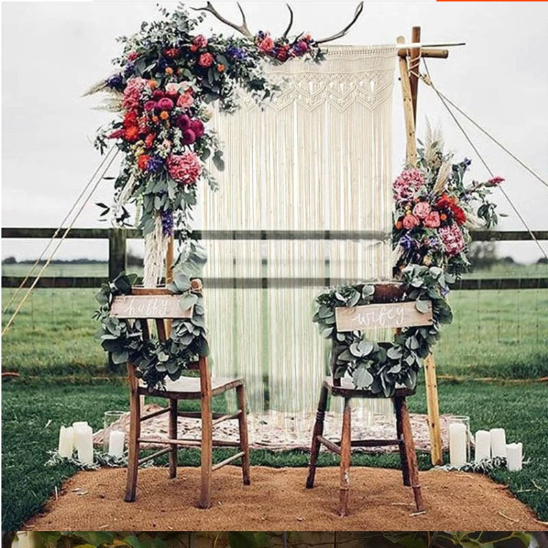 Large 180x130cm Wedding Backdrop Wall Hanging Tapestry Bohemian Macrame  Living Room Bedroom Wall Decor Tapestry