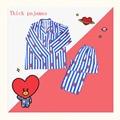 Женская пижама с принтом в виде сердечек и полос, комплект женской пижамы в стиле Харадзюку, мягкая ночная рубашка с коротким рукавом, лето ...
