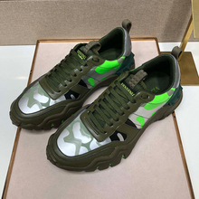 Vvl top leather camouflage sneakers, men's shoes, original Italian high-quality