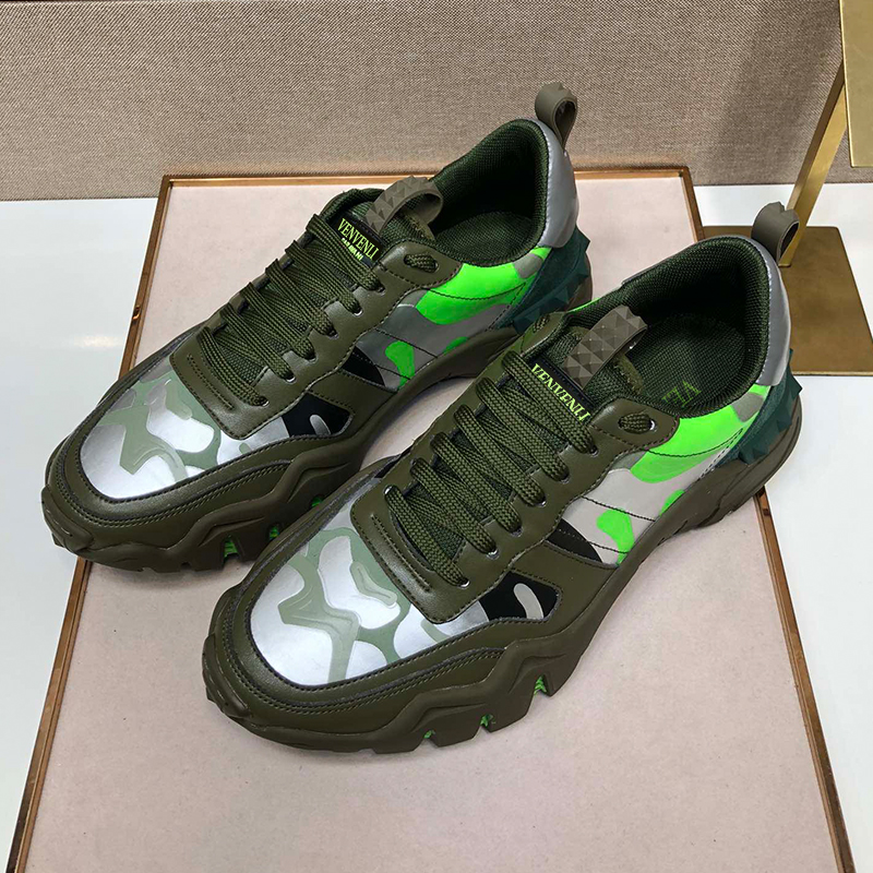 Vvl Top Leather Camouflage Sneakers, Men's Shoes, Original Italian High-quality Leather, Top Luxury Standard Handmade Six Colors