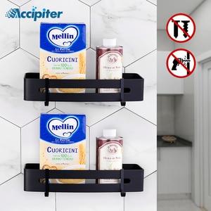 Image 1 - Bathroom Shelf Cosmetic Rack With Single Lever shower shelf Bathroom Accessories Toilet Powerful Suction Towel Hook