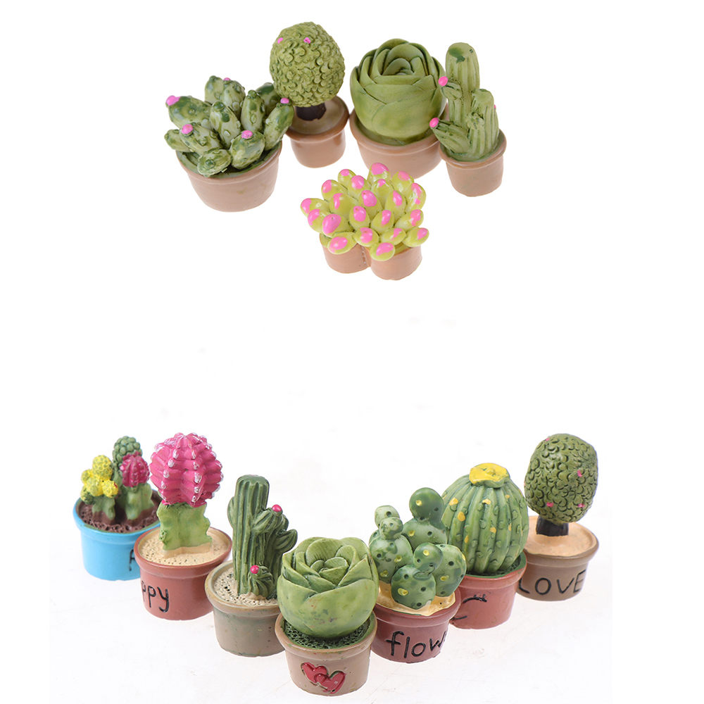 1/12 Dollhouse Miniature Accessories Mini Succulent Bonsai Simulation Potted Plant Model Toy Doll House Decoration