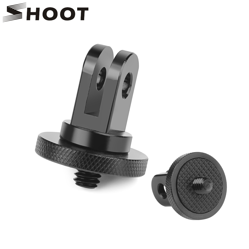 SHOOT <font><b>Metal</b></font> <font><b>1/4</b></font> Mini Tripod <font><b>Adapter</b></font> Mount for <font><b>GoPro</b></font> Hero 7 6 5 4 Session Xiaomi Yi 4K Sjcam Sj4000 Eken H9 Go Pro Hero Accessory image