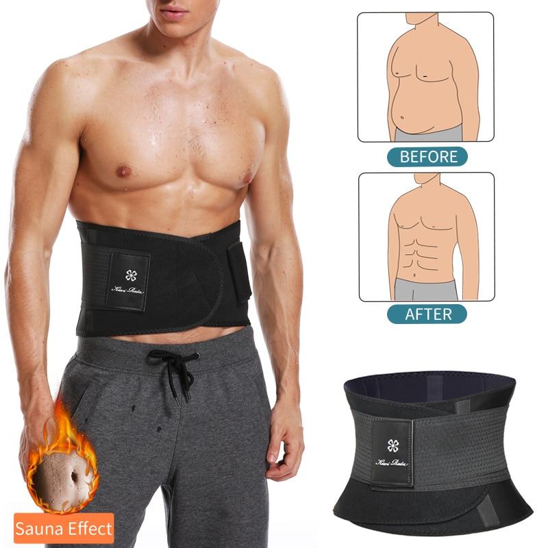 Hot Sauna Waist Weight Loss Trimmer Belt Men/'s Body Shaper Slimming Belly Wrap