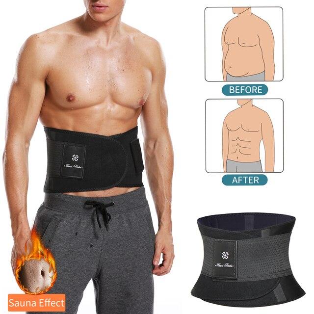 Mens Waist Trainer Abdomen Slimming Body Shaper Belly Shapers Modeling Belt Weight Loss Shapewear Sweat Girdle Slim Trimmer Belt